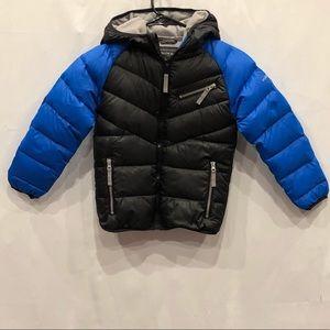 Hawke&Co. boys black and blue puffer jacket size 6